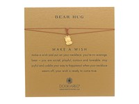 Dogeared Bear Hug Make A Wish Thread Necklace Gold Dipped Tobacco Necklace Red