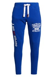 Superdry Trackster Non Cuffed Joggers Royal Blue