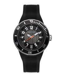 Philip Stein Teslar Extreme Rubber Strap Watch Black Philip Stein