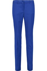 Michael Kors Collection Samantha Stretch Wool Gabardine Slim Leg Pants Cobalt Blue