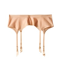 Wolford Satin Stocking Belt Cream Tan Hose