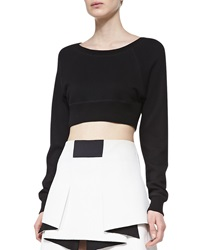 Robert Rodriguez Cropped Long Sleeve Sweatshirt Medium