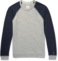 Rag And Bone Two Tone Cotton Blend Jersey T Shirt Gray