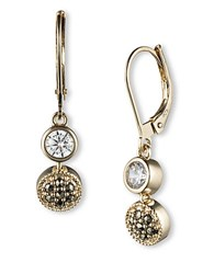 Judith Jack 14K Gold And Swarovski Crystal Linear Earrings