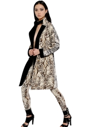 Ungaro Tiger Printed Stretch Cady Coat Multi