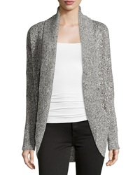 Neiman Marcus Long Sleeve Open Front Cocoon Cardigan Granite