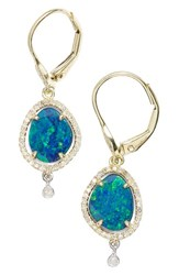 Meira T Women's Meirat Diamond And Semiprecious Stone Drop Earrings Opal