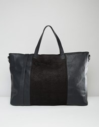 Pieces Weekender Bag With Contrast Panelling Black