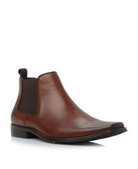 Arkwright Slip On Formal Chelsea Boots Tan