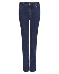 Jaeger Straight Mid Rise Jeans Blue