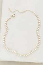 Anthropologie Infini Collar Necklace White