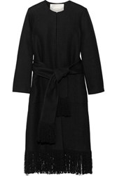 Adam By Adam Lippes Frayed Linen And Cotton Blend Coat Black
