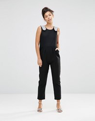 The Whitepepper Hand Detail Jumpsuit Black