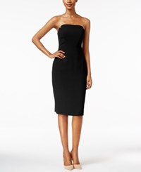 Jill Stuart Strapless Bodycon Dress Black