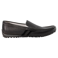 Geox Leather Snake Moccasins Black