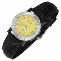 Raymond Weil Parsifal W1 Women's Yellow Stainless Steel And Leather Date Watch