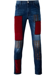 Love Moschino Patchwork Skinny Jeans Blue
