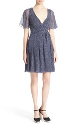 Women's Diane Von Furstenberg 'Katina' Silk Polka Dot Wrap Dress Dream Dot Midnight