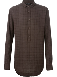 Blk Dnm Checked Shirt Brown