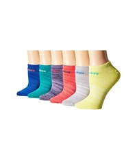 Adidas Superlite 6 Pair No Show Socks Bold Blue Flash Red Light Onix Frozen Yellow Eqt Green Super Pur Women's No Show Socks Shoes Multi