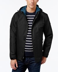 London Fog Men's Hooded Raincoat Black