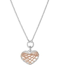 Links Of London Dream Catcher Rose Gold Heart Pendant Necklace