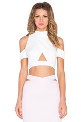 Rise Say You'll Be Mine Crop Top White