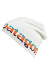 Patagonia Women's Knit Beanie White Logo Belwe Birch White