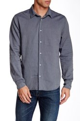 Save Khaki Overdyed Oxford Simple Classic Fit Shirt Gray