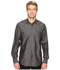 James Campbell Long Sleeve Woven Lynx Black Men's Long Sleeve Button Up