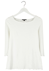 Comma Long Sleeved Top Ecru Off White
