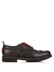 Givenchy Commando Leather Brogues Black