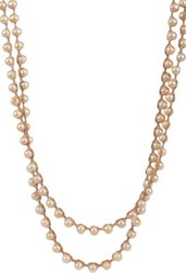 Feathered Soul Women's Beige Pearl Long Necklace No Color