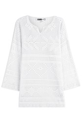 Claudia Schiffer For Tse Cotton Tunic With Cut Out Detail White