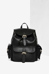 Nasty Gal Hitch A Ride Vegan Leather Backpack