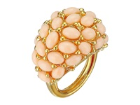 Kenneth Jay Lane Cabochon Cluster Ring Angelskin Ring Tan