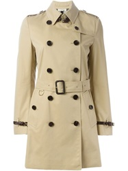 Burberry London Belted Trench Coat Nude And Neutrals