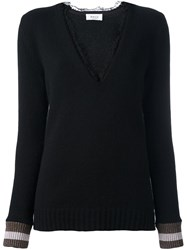 Aviu Lace Trim Jumper Black