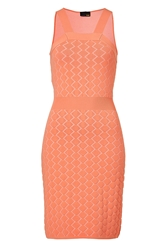 Fendi Peach Intarsia Knit Dress