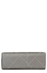 Whiting And Davis 'Crystal Segments' Flap Clutch Grey Matte Silver