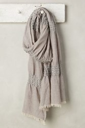 Anthropologie Clustered Sequin Scarf Grey