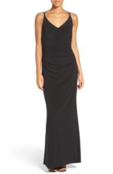 Laundry By Shelli Segal Women's Stretch Gown Black