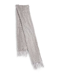 Collection 18 Pleated Scarf Silver Fox
