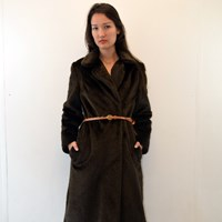 Miniola Vintage 1970S Luxury Faux Fur Coat With Very Pretty Lining