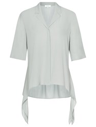 Reiss Panther Tie Blouse Fern