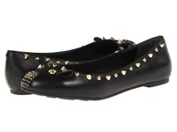 Marc By Marc Jacobs Punk Mouse Ballerina Flats Black Gold Women's Flat Shoes