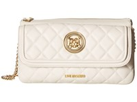 Love Moschino Long Classic Quilted Crossbody Bag White