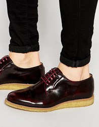 Walk London Darcy Crepe Sole Derby Shoes Red