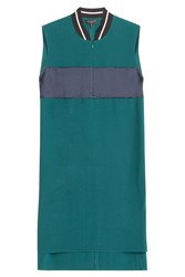 Rag And Bone Rag And Bone Colorblock Shift Dress With Contrast Collar Green