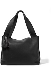 The Row Duplex Textured Leather Shoulder Bag